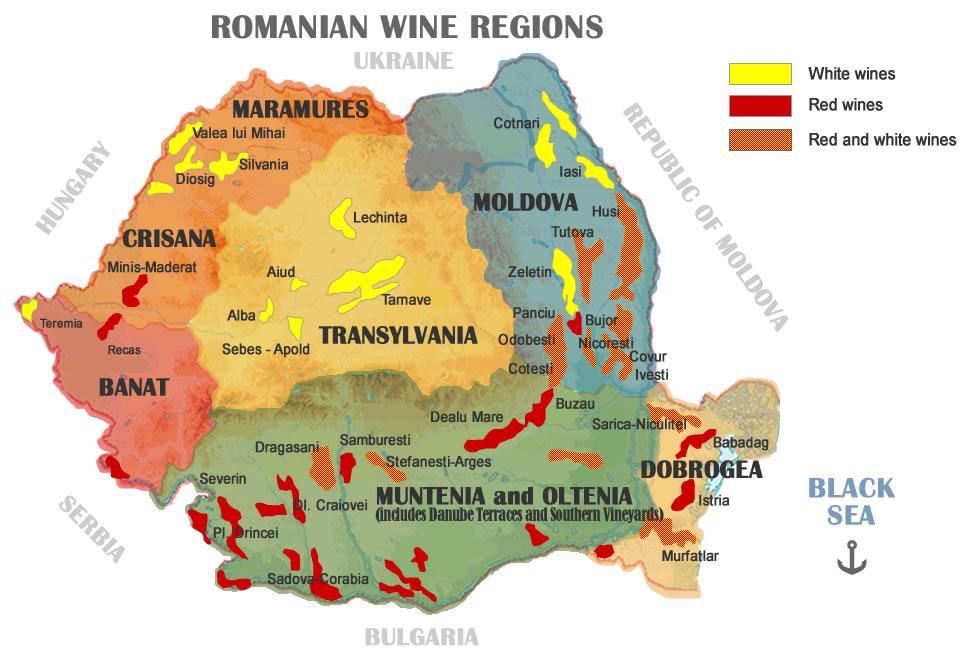 mapa vinos rumania nubia tours