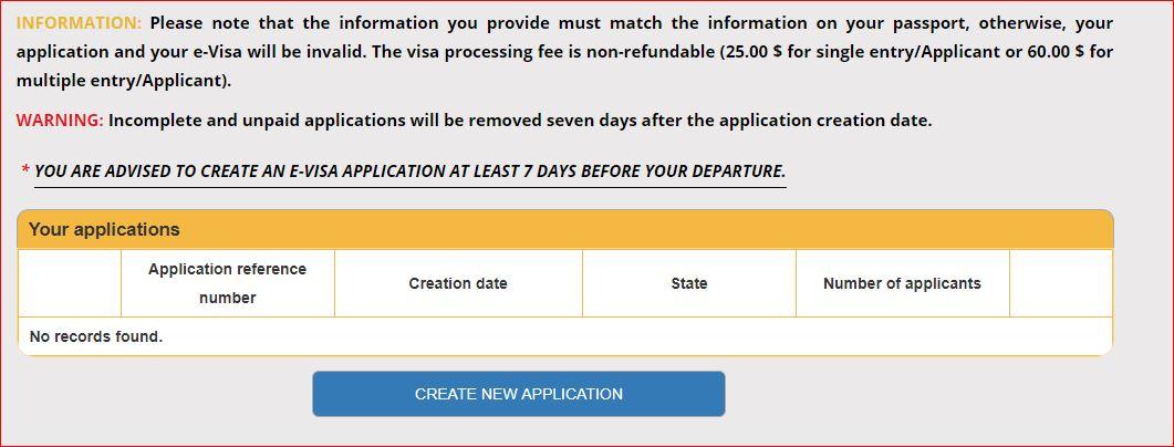 E-visa para Egipto